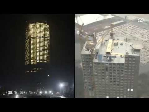 Tòa nhà 57 tầng được xây dựng siêu nhanh trong 19 ngày
