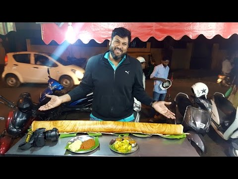 Large Family Dosa at RK Dosa camp Bangalore - 2 feet by 5 feet dosa eaten by 1 person!