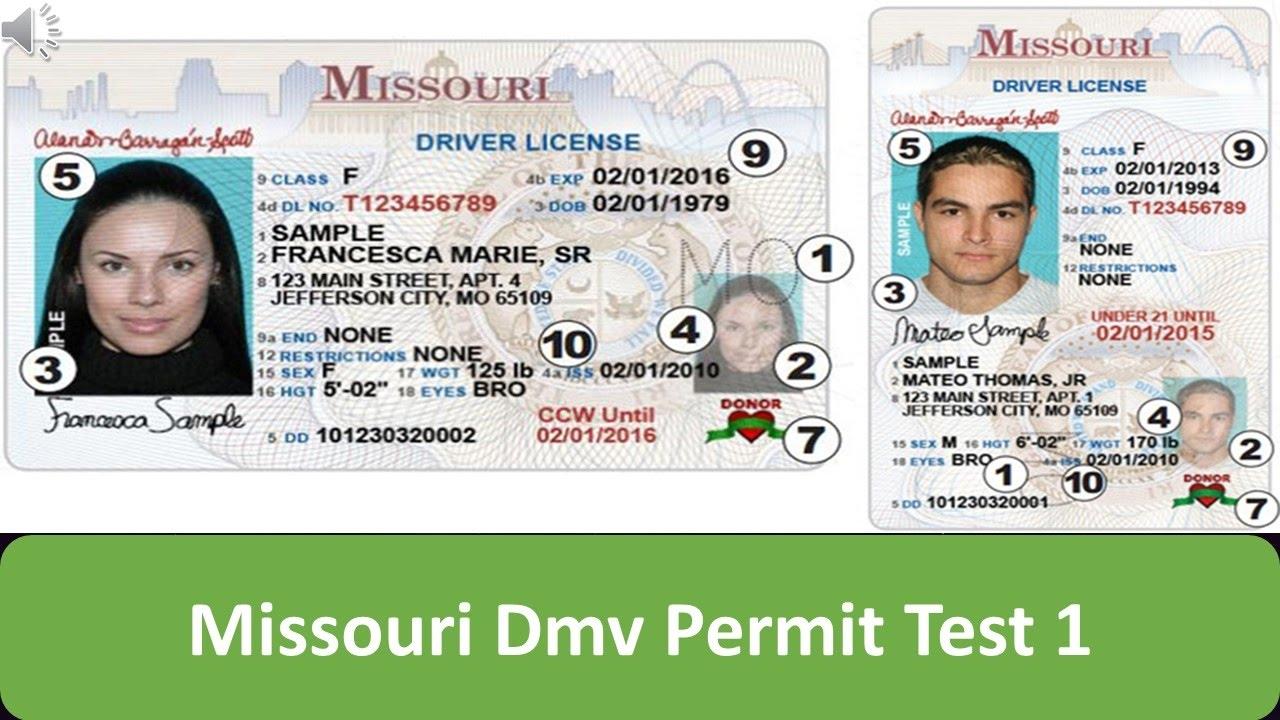 Missouri Dmv Permit Test 1