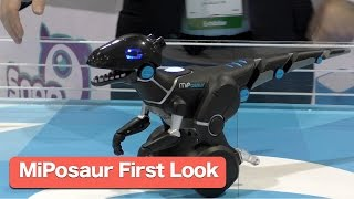 MiPosaur Robotic Dinosaur Pet by WowWee.  First Look CES2015