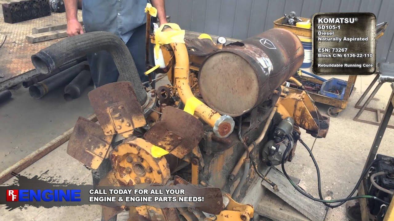 7516729GN | Komatsu® 6D105-1 Diesel Rebuildable Running Engine Core