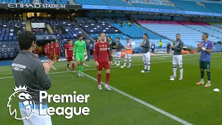 Premier League champions Liverpool receive guard of honor from Manchester City   NBC Sports