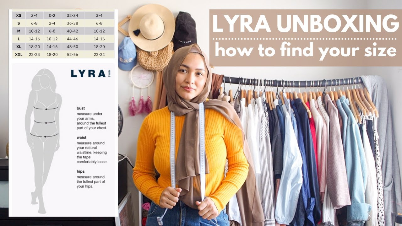 LYRA SWIMWEAR UNBOXING + HOW TO FIND THE PERFECT SIZE FOR YOU