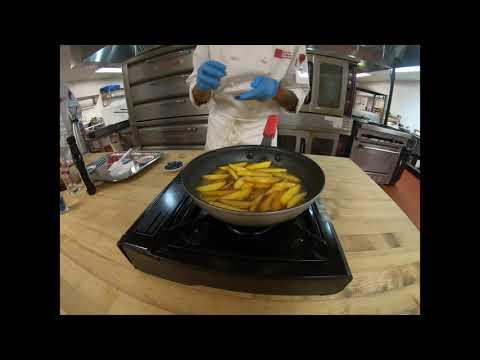 How To Cook Peach Flambé