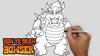 How to Draw Bowser- Super Mario Bros- Video Lesson