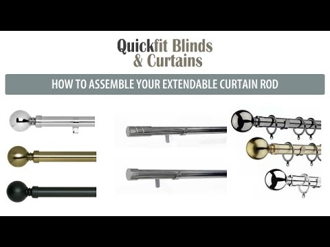 how to assemble quickfit curtain rods and poles