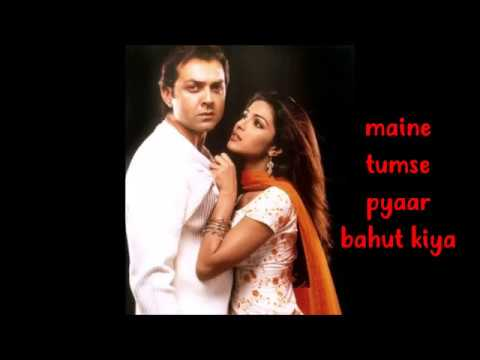 Maine Tumse Pyaar Bahut Kiya English Lyric Translation - Priyanka Chopra & Bobby Deol Barsaat