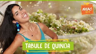 Quinoa com vinagrete de talos   Bela Gil   Bela Cozinha