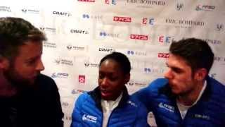 Vanessa James / Morgan Ciprès (FRA) Interview at Trophée Eric Bompard