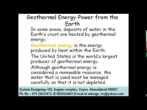 Geothermal energy power from the earth System Designing 919898368188