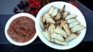 Simple Delicious Potato Fries & Sweet Basil Dipping Sauce Recipe - Plant-based Vegan Rawtill4