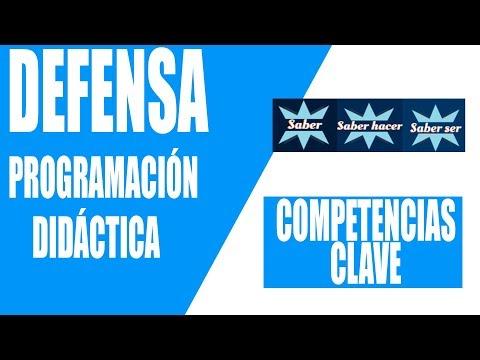 4. COMPETENCIAS CLAVE. Defensa Programación Didáctica Oposiciones