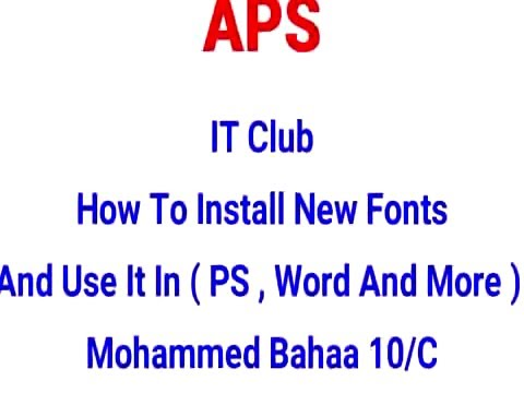 How to Add fonts for Microsoft word and PowerPoint APS 10