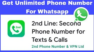 2nd line app use | 2nd phone number for whatsapp | screenshot 1