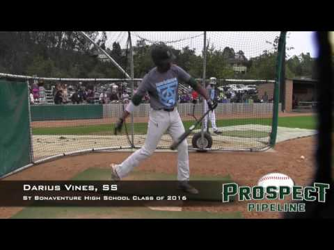 Darius Vines Prospect Video, SS, St Bonaventure High School Class of 2016