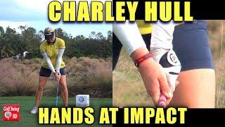 CHARLEY HULL HANDS THRU IMPACT SLOW MOTION DRIVER GOLF SWING 1080 HD