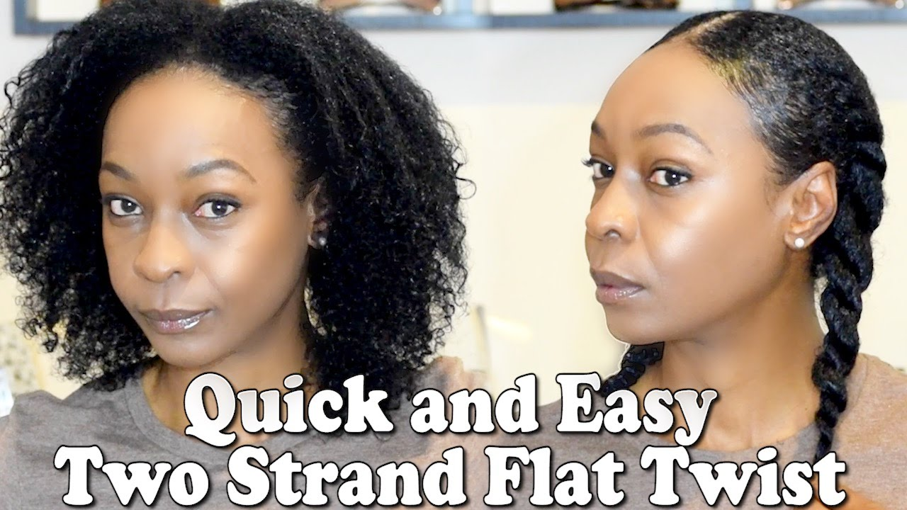 Protective Style: Quick And Easy Two Strand Flat Twist For