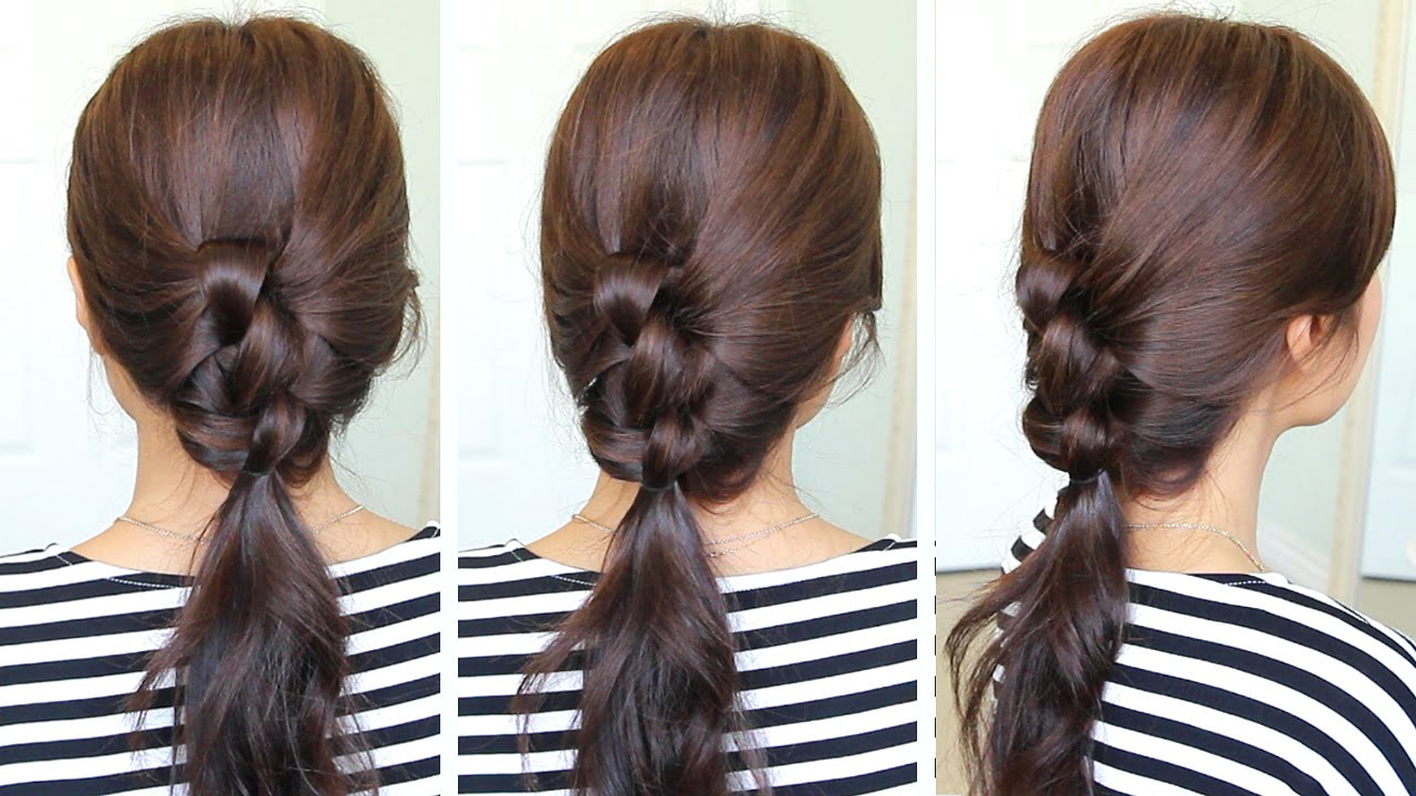2 Min Knotted Ponytail Hairstyle Hair Tutorial Youtube