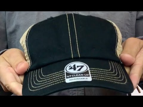 5cd88b5f102 47  BLANK DIRTY MESH SNAPBACK  Black-Tan Adjustable Hat - YouTube