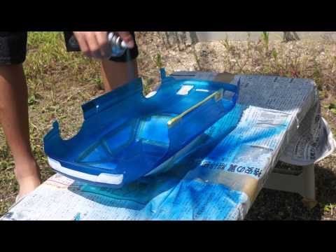 RCボディ製作 Part1 【塗装】PANDORA RC 180SX メタリックブルー