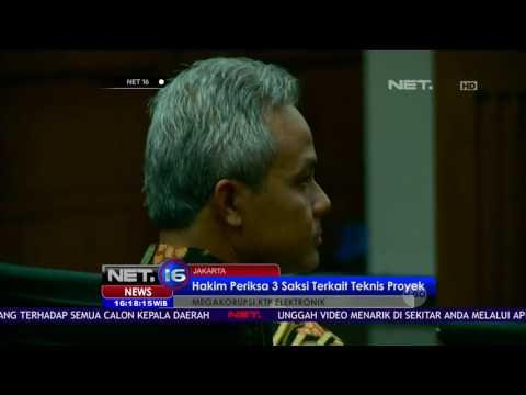 Live Report - Kesaksian Ganjar Pranowo dan Agus Martowardojo di Sidang Korupsi E-KTP - NET16