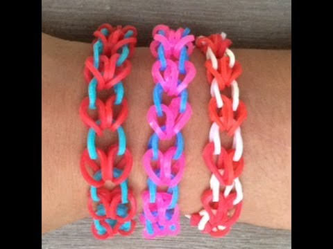 Hoe maak je een armband met hartjes van rainbow loom bandjes een loom bord en een haakpen - Hoe je een eigentijdse inrichting van ...