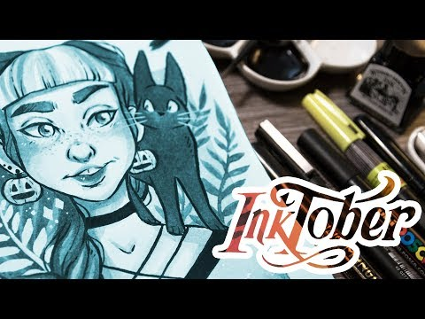 FAVOURITE Art Supplies for INKTOBER + Ink Illustration