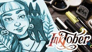 FAVOURITE Art Supplies for INKTOBER + Ink Illustration