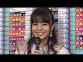 NGT48 本間日陽 第10回AKB48総選挙2018直後インタビュー 山本彩 柏木由紀