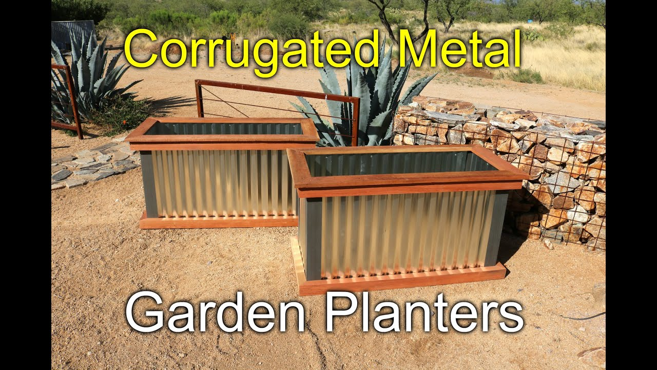 Redwood and Metal Planters - How To - YouTube