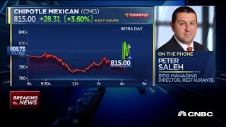 Peter Saleh on Chipotle earnings