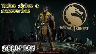 Personalização Scorpion MK11 Todas skins e acessorios