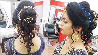 Baixar Party hairstyle for beginners using hair extension step-by-step (in Hindi)