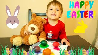 Easter Video for Kids and Coloring Easter Eggs Fun!