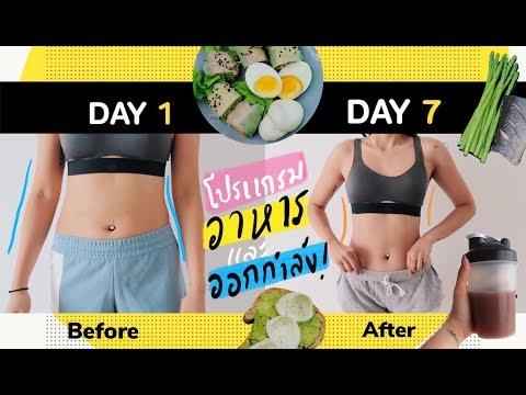 แชร์ โปรแกรมลดน้ำหนัก 7 วัน(ตารางอาหาร + ออกกำลังกาย)อยากผอมต้องเริ่ม! I CU.FITGIRL
