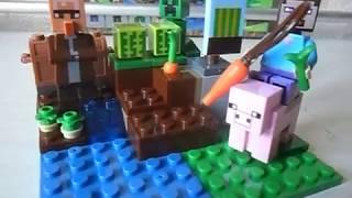 Обзор подделки на набор Лего майнкрафт 21138 арбузная ферма от компании BELA