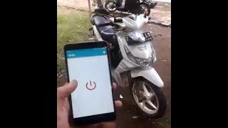 KEREN !! Menyalakan Motor Dengan Aplikasi HP Android