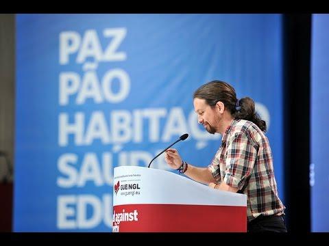 """Pablo Iglesias no comício """"Unidos Contra a Austeridade"""""""