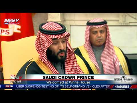 SAUDI CROWN PRINCE: Welcomed at White House by President Trump (FNN)