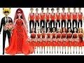 Play Doh Wedding ❤️Ladybug & Cat Noir ❤️10 Disney Princes & Princesses Inspired Costumes