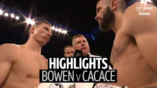 Sam Bowen vs Anthony Cacace fight highlights | 12 round scrap for British super-featherweight title!