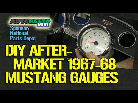How To DIY Aftermarket Gauge Cluster For 1967 1968 Mustang Part 1 Episode 188 Autoresto