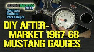 How To DIY Aftermarket Gauge Cluster for 1967 1968 Mustang Part 1 Episode 188 Autoresto