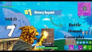 New Fortnite Battle Hound Skin Gameplay- Solo Battle Royal Gameplay