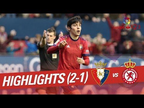 Resumen de Osasuna vs Cultural Leonesa (2-1)