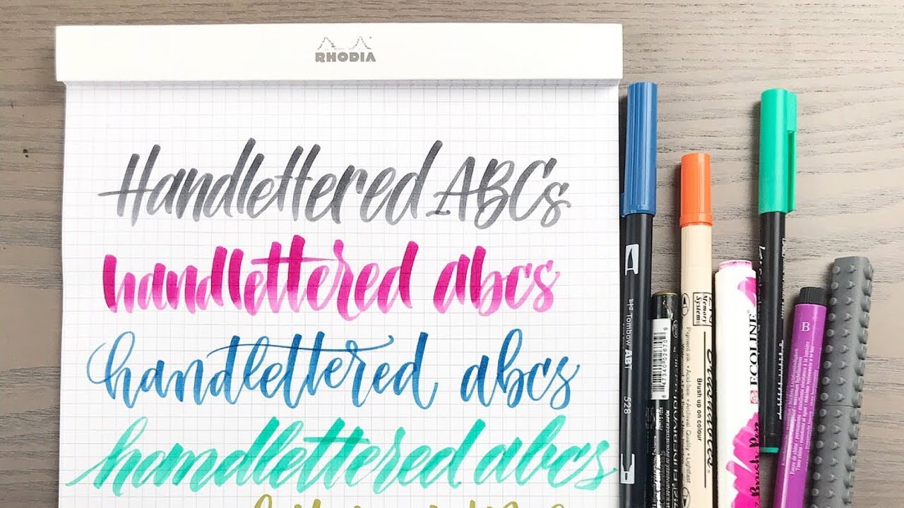 how to write letter f handlettered abcs challenge youtube
