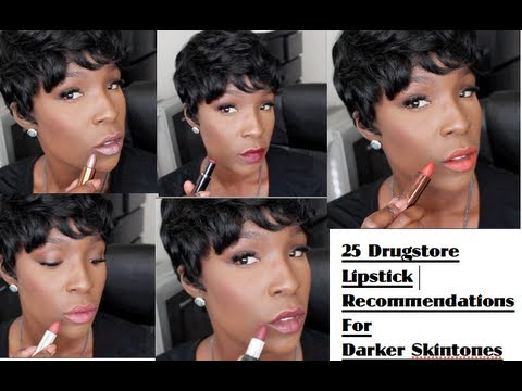 25 Drugstore Lipstick Recommendations for Darker Skin (Swatched on ...