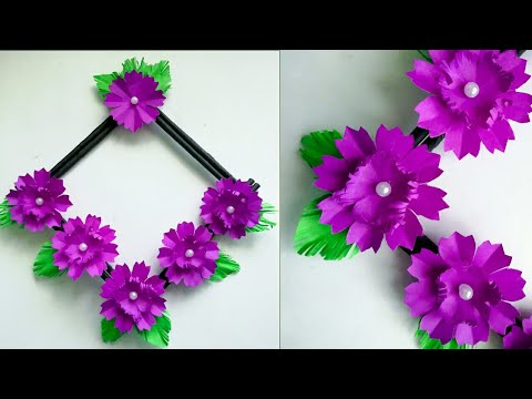 Diy paper flower wall hanging /Simple and beautiful wall hanging/Wall decoration by KovaiCraft #43