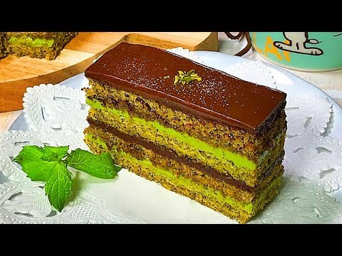 抹茶のオペラケーキの作り方 Green Tea Opera Cake Recipe