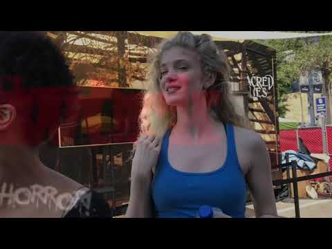 Horror  Network Chats with Elena Kampouris of Sacred Lies at ComicCon